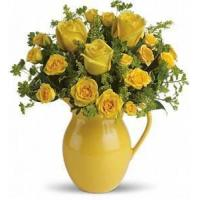 Buy cheap Teleflora's Sunny Day Pitcher of Roses [T71-1A] from wholesalers