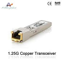 Buy cheap 10/100/1000base-T Copper SFP Fiber Optic Transceiver from wholesalers