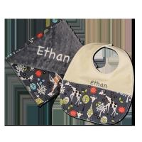 Buy cheap Giraffe Garden in Grey Personalised Blanket and Bib Set from wholesalers