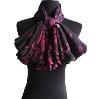 Buy cheap Monochromatic jungle flower scarf, bespoke in china scarf factory Product IDLP1511003 from wholesalers