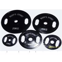 Black Rubber Coated Olympic Barbell Plate (2 holes) Manufactures