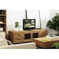 China Living room industrial reclaimed wood natural TV cabinet on sale