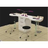 China Salon furniture wood double nail desk-SY097 on sale
