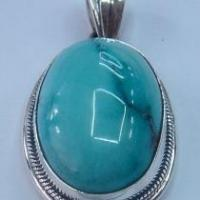Buy cheap Artisan crafted sterling, turquoise pendant basic wire design from wholesalers