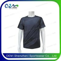 Buy cheap T-shirts Custom printed round neck gym t shirts from wholesalers