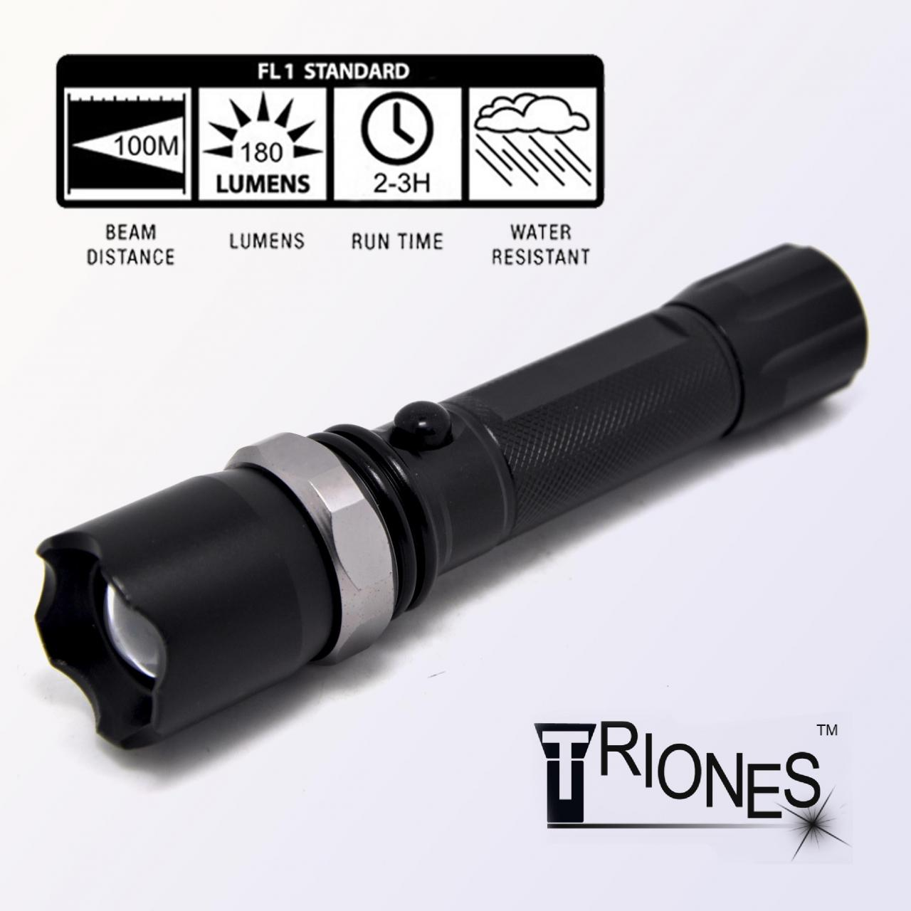 Wholesale Rechargeable flashlight Professional Tactical Police Flashlight from china suppliers