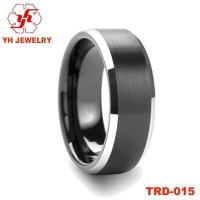 Buy cheap Tungsten carbide ring tungsten jewelry tungsten electroplate ring TRD-015 from wholesalers