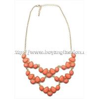 Buy cheap wholesale pink different size of resin beads quality fashion jewelry necklace from wholesalers