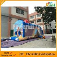 cute octopus inflatable obstacle course air bounce obstacle