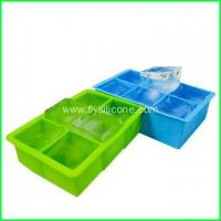 Wholesale BPA Free Square Silicone Custom Ice Cube Tray FYJ-042 from china suppliers