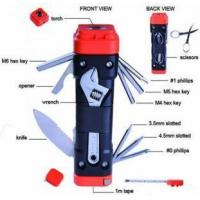 Buy cheap Hand Tools Newest 13 in One Power Screwdriver Bit with Torch, Multi Tool Set from wholesalers