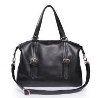 Buy cheap Women Leather Hobo Bag Black from wholesalers