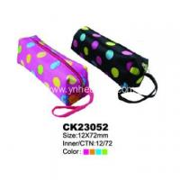 Buy cheap custom logo zippered pencil pouch from wholesalers