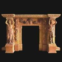 Buy cheap statue marble mantel from wholesalers