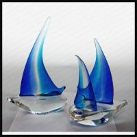 Wholesale Handmade Glass Sailing Boat Award Trophy from china suppliers