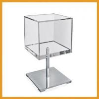 Acrylic Chrome Counter Cube Display Manufactures