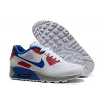 Buy cheap Latest Design 2013 Air Max 90 Hyperfuse Prm Womens Shoes White Red Blue from wholesalers