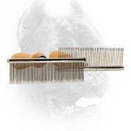 Buy cheap Kennel Accessories Metal Dog Brush with Wooden Handle from wholesalers