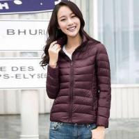 Buy cheap Autumn and winter thin stand collar down coat female short design plus size slim white duc from wholesalers