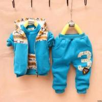 Wholesale male and female children's clothing 2012 new Autumn baby sweater vest + jacket + trousers Parure from china suppliers