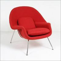 Chairs: Living Room Saarinen: Womb Chair Reproduction
