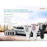 Buy cheap ICH-21CQ50 50W 4 USB Car Charger with QC 3.0 and Type-C Port from wholesalers