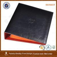 Wholesale pu leather portfolio with 3 ring metal binder for hotel from china suppliers