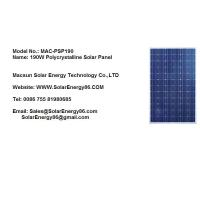 190W Polycrystalline Solar Panel (MAC-PSP190) Manufactures