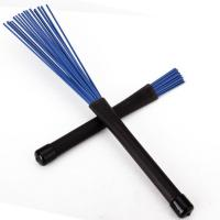Buy cheap Retractable Black Rubbe Retractable Black Rubber Handles Jazz Drum Brushes Sticks Blue Nylon from wholesalers