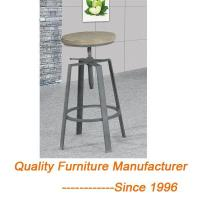 Buy cheap SGS Tested Height Adjustable Bar Stool Wooden Top Metal Frame from wholesalers