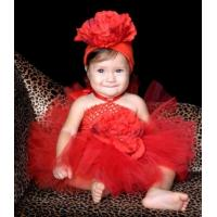 Buy cheap Red Beauty Valentines Day Blooming Crochet Baby Tutu Dress - 2072 from wholesalers