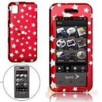 Buy cheap Red Hard Plastic Case with Silvery Star Pattern for Samsung M800 Cell Phone Cases from wholesalers