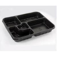 China Compartments Disposable Plastic Food Box on sale