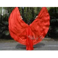 Wholesale 1 set 6mm habotai half circle silk wings, red from china suppliers