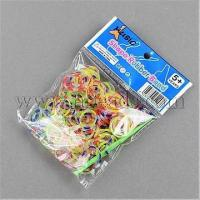 DIY Tie Dye Transparent Neon Rubber Loom Bands Refills with ...(X-DIY-R008-M3) Manufactures