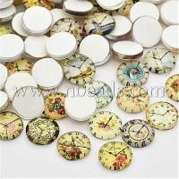 Wholesale Clock Printed Glass Cabochons, Half Round/Dome, Mixed Color,...(X-GGLA-A002-12mm-YY) from china suppliers