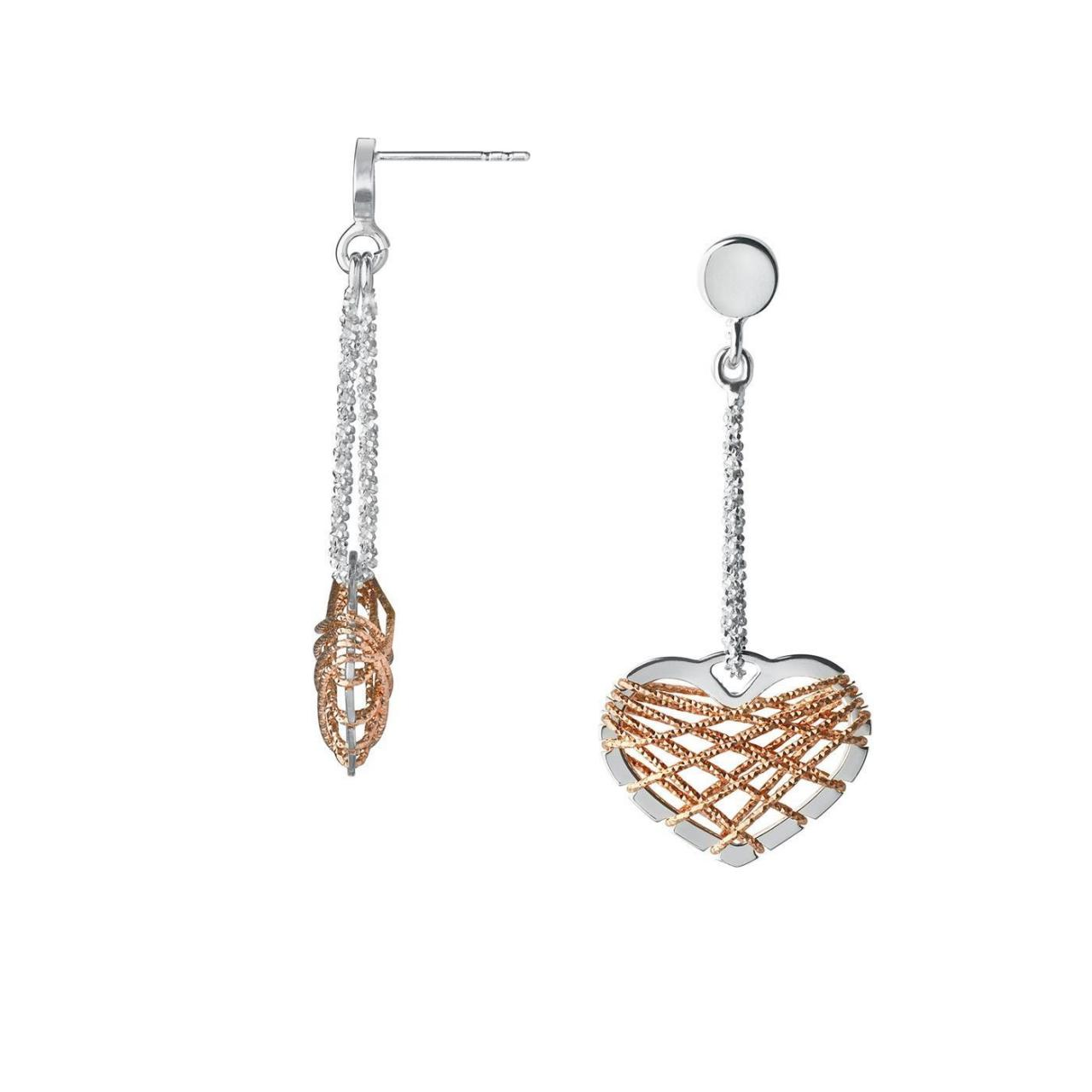Wholesale Dream Catcher Bi-Metal Heart Drop Earrings from china suppliers