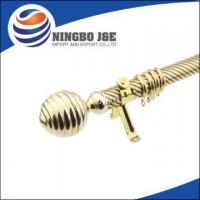 Buy cheap 35mm Single Golden Curtain Pole with Curtain Accessories from wholesalers