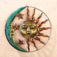 Wholesale Sun and Moon Metal Wall Art from china suppliers