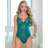 Buy cheap Terrific Teal Sexy Lace Teddy from wholesalers
