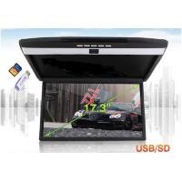 Buy cheap VCAN1329 17.3inch high-definition screen car flip down Roof mount lcd monitor with MP5 HDMI USB SD from wholesalers