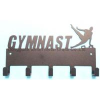 China GYMNAST medal hook Metal sport medal holder Laser cut steel medal display hook on sale