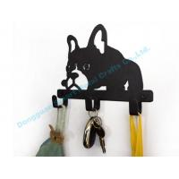 Wholesale DOG metal key hook Wall mounted metal key holder in black finish from china suppliers