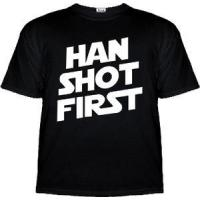 Buy cheap Han Shot First T-Shirt - Star Wars Shirt from wholesalers