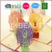 Wholesale 3D Pop-Up Sky Wheel Greeting & Gift Cards from china suppliers
