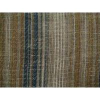 Wholesale Clearance Fabric Mocha Teal Open Weave Striped Casement from china suppliers