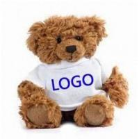 Buy cheap Teddy Bear promotional plush teddy bear with t-shirt printing logo from wholesalers
