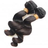 Top Quality Loose wave Malaysian virgin hair weave in Natural color