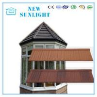 Buy cheap Wood Shake Type Waterproof Zinc Stone Coated Metal Roofing Tiles Roof System from wholesalers