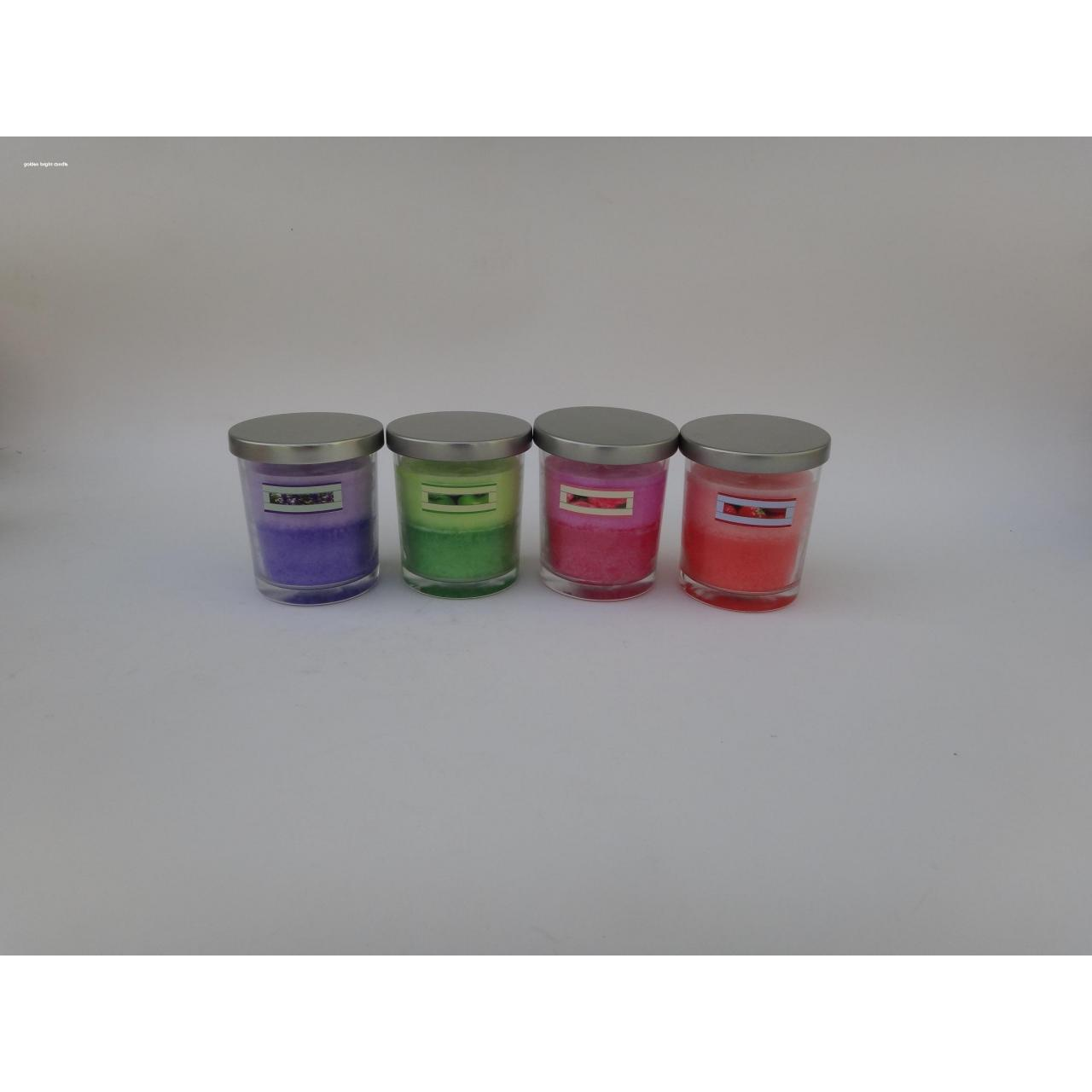 Buy cheap Scented Glass Jar candle with Metal Lid from wholesalers